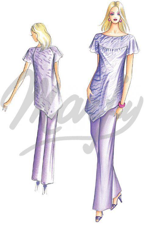 Model 2191 | Sewing Pattern Shirts / Tunic | marfy | Pinterest ...