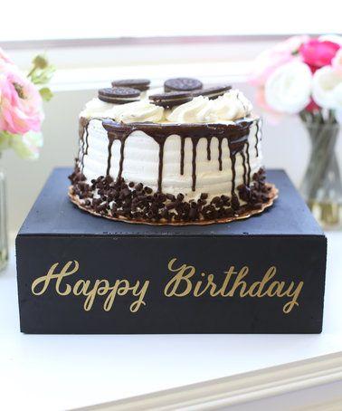 Look what I found on #zulily! Distressed 'Happy Birthday' Cake Stand #zulilyfinds