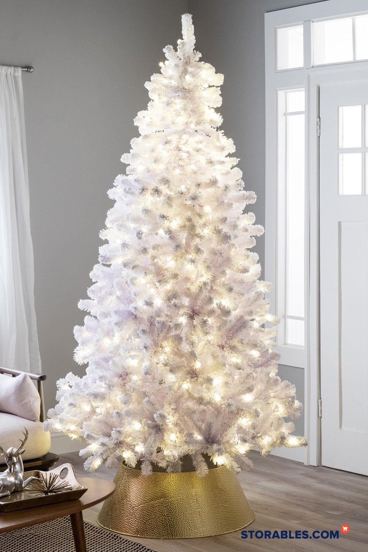 10 Stunning White Christmas Tree Decor Ideas Pre Lit Christmas Tree White Christmas Tree Decorations White Xmas Tree