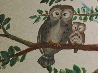 Muurschildering boom met feeën en dieren ‹ Miranda Maakt het Mooi