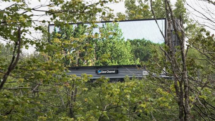 Digital billboards in nature