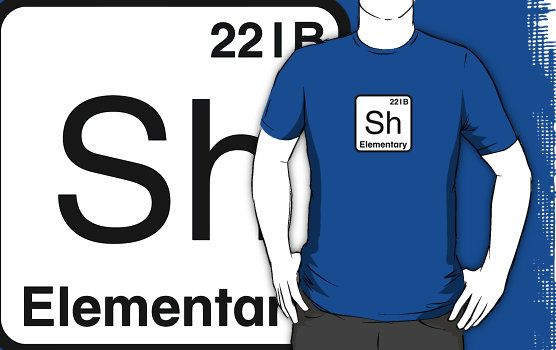 The Atomic Symbol For Detection Sherlock Holmes Clothes T