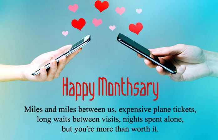 Long Distance Monthsary Messages, Happy Monthsary Quotes