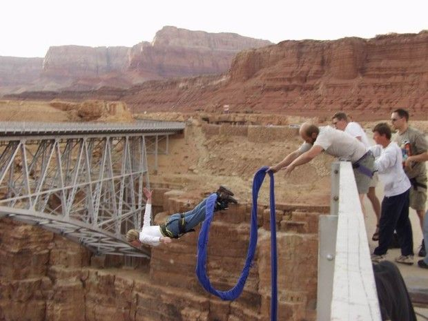 Bungee Jumping Navajo Bridge Marble Canyon Az As The
