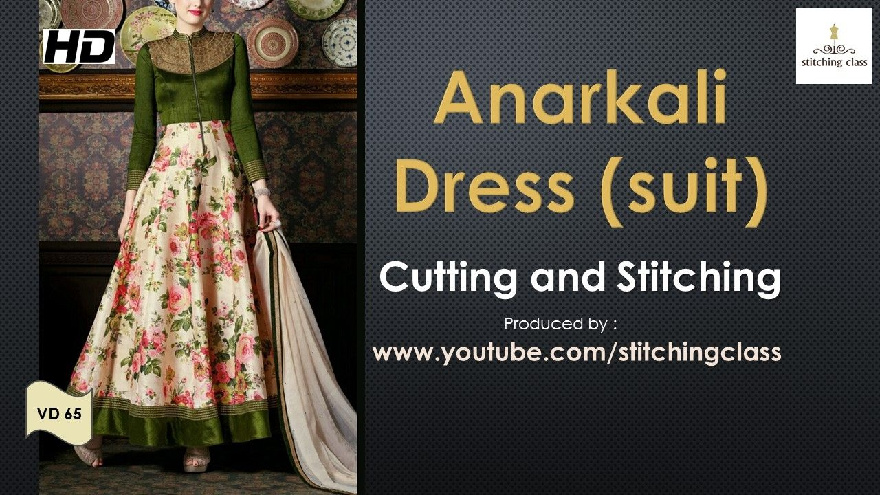 Anarkali Dress Cutting and Stitching | how to stitch videos indian ...