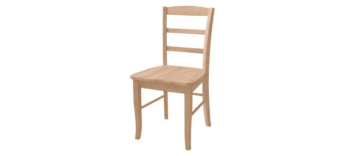 Set Of 2 Madrid Dining Chair Wood Unfinished International