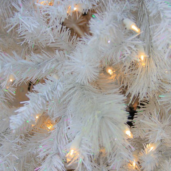 75\u0027 White Pine Artificial Christmas Tree with 500 LED Lights with