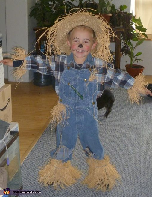 Scarecrow costume scarecrows costumes and yarns for Homemade halloween costumes for little boys