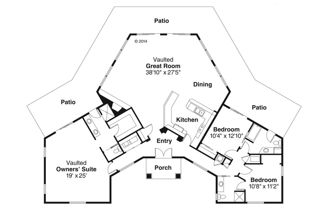Plan 124-981 - Houseplans Would have to add attached garage