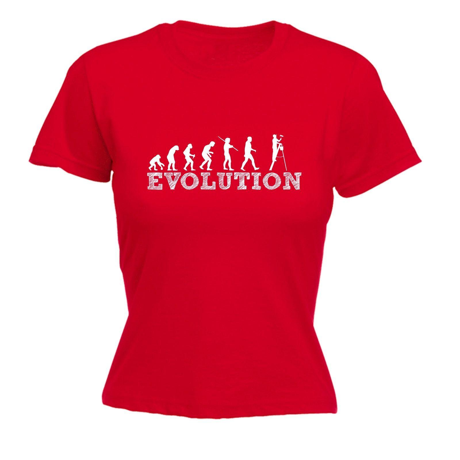 T usa womenus evolution decorator funny tshirt evolution and