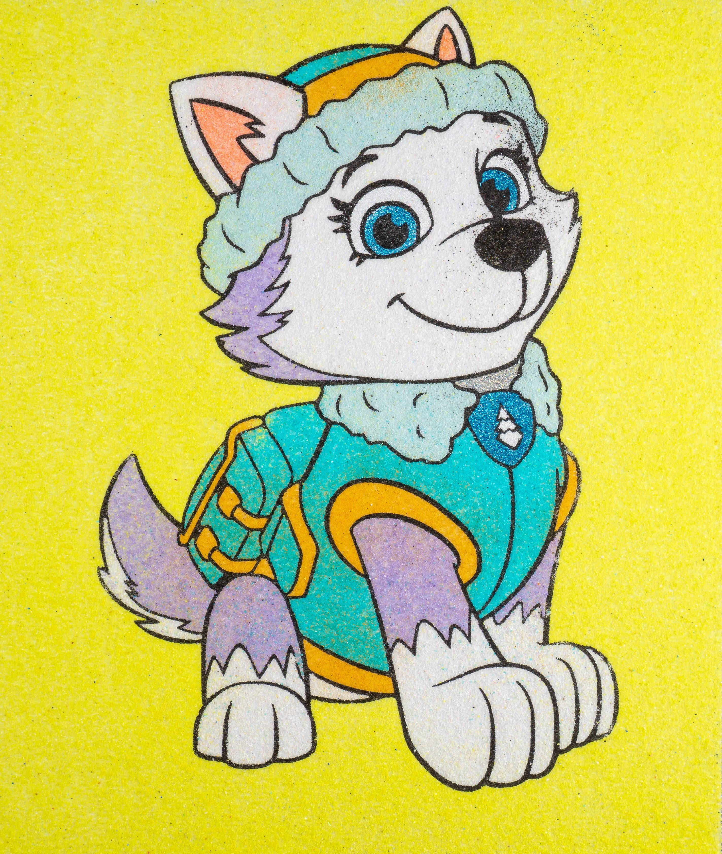 Coloring Everest Paw Patrol With Sand Paw Patrol Sand Coloring Sheets For Children Youtube Everest Paw Patrol Paw Patrol Paw Patrol Characters