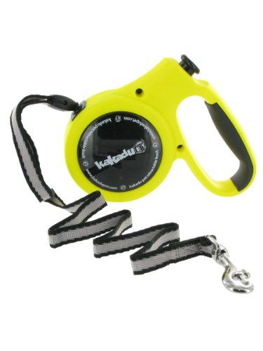 Kakadu Pet Retractable Lead, Long Dog Leash, Medium, Up to 66-Pound by 16-Foot, Yellow « DogSiteWorld-Store