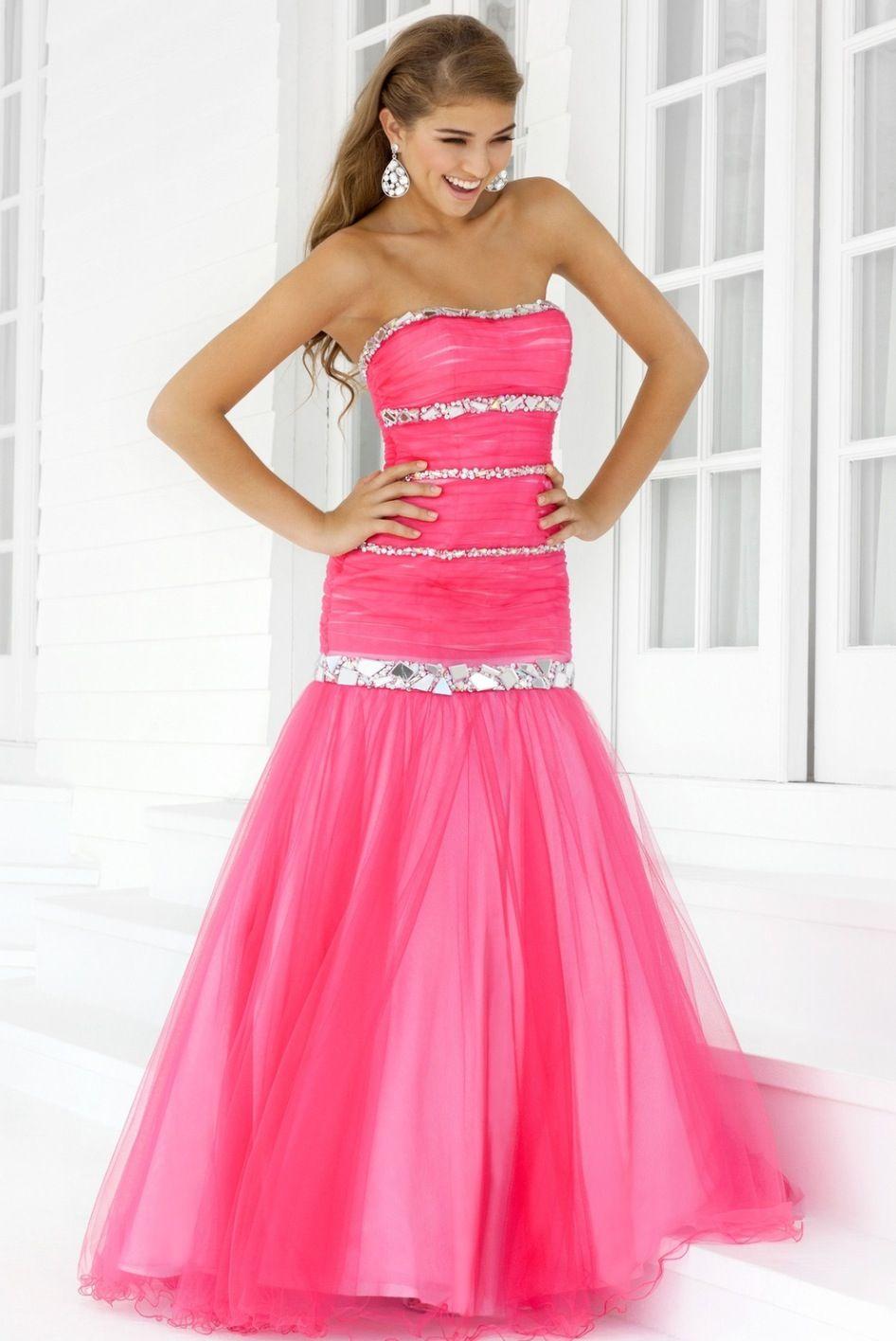 cute hot pink prom dress | Ashley\'s board | Pinterest | Hot pink ...