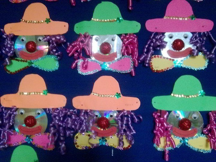 cd clown craft idea for kids Crafts and Worksheets for Preschool