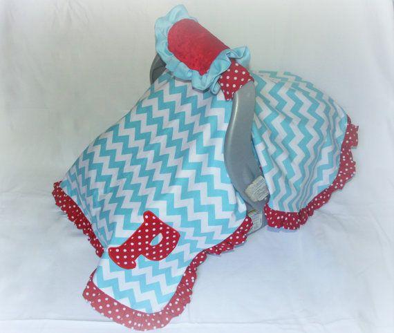 3 Piece COTTON Car Seat Canopy Set by LittleSouthernDarlin on Etsy,