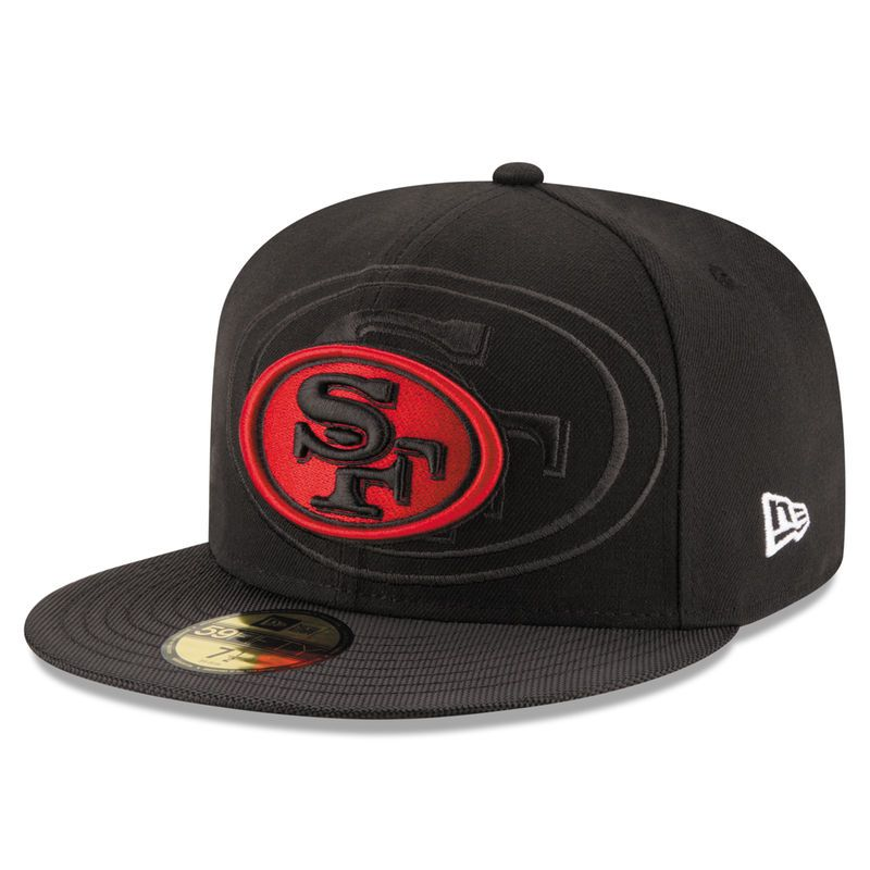 pretty nice 98339 671a3 San Francisco 49ers New Era Youth 2016 Sideline Official 59FIFTY Fitted Hat  - Alt Black