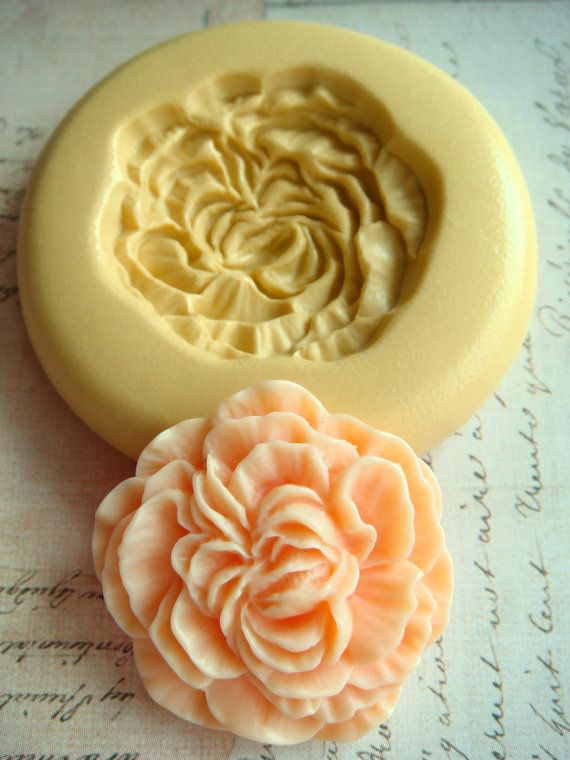 I need this: Peony blossom silicone mold by Molds (via Etsy).