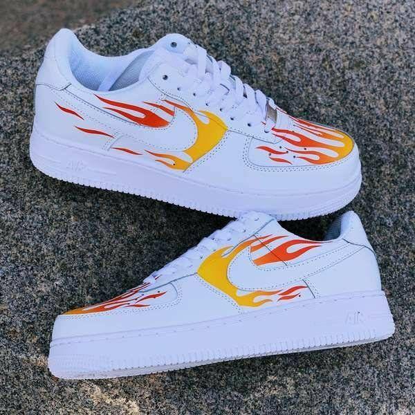 Custom Nike Eternal Flame Air Force 1