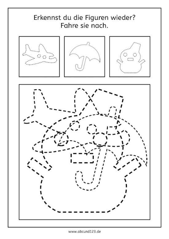 Einfache Figuren zum Nachfahren, Nachfahren, Nachfahrübung, Vorschule, Grundschule, Förderschule, Feinmotorik, Aufmerksamkeit, Wahrnehmung, AFS-Methode, Stephany Koujou, Legasthenie, Dyskalkulie, Legasthenietraining, Dyskalkulietraining