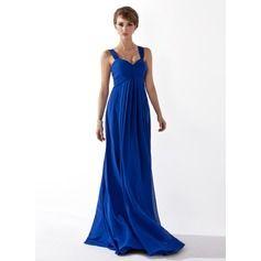 Trumpet/Mermaid Strapless Floor-Length Taffeta Bridesmaid Dress With Sash (007004268) - JJsHouse