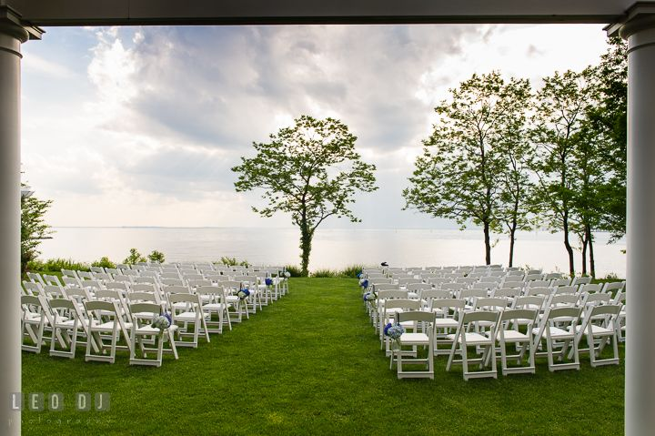 Gorgeous Water View Of The Chesapeake Bay From Ceremony Site Kent Island Maryland BeachBeach ClubWedding