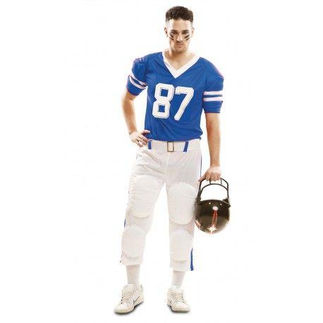 Disfraz De Jugador De Rugby Azul Para Hombre Comprar Jugadores De Futbol Americano Disfraces Para Adultos Jugadores De Rugby