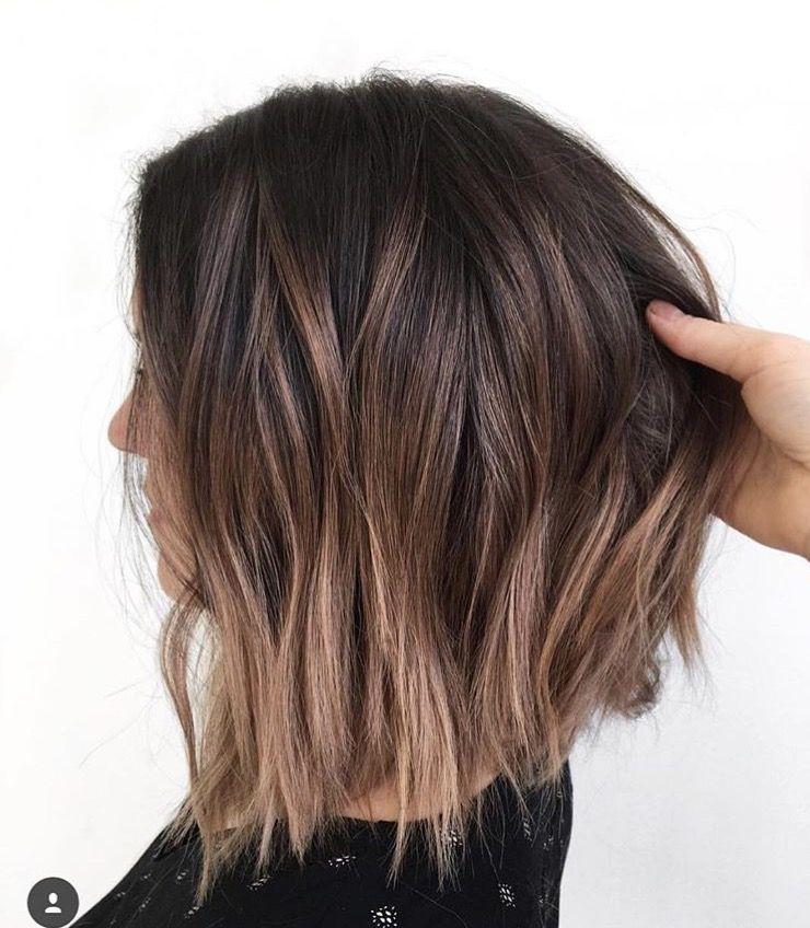 Brown Hair Light Brown Highlights Short Hair Balayage Short Hair Brown Hair Styles