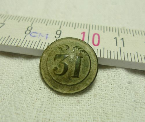 French BUTTON 31 REGIMENT