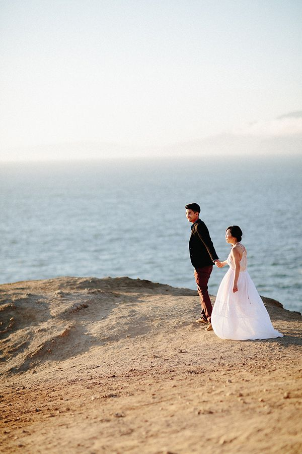 Elegant California Beach Engagement - Once Wed