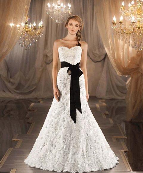 15 Elegantes Vestidos de Novia en colores Blanco y Negro | Vestidos ...