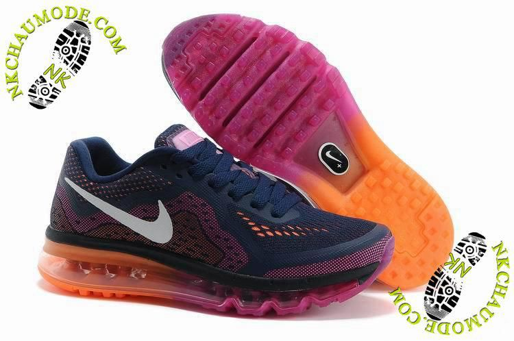 size 40 5babe 9dbba chaussure nike air max tn 2014 Femme Pourpre Rose Orange