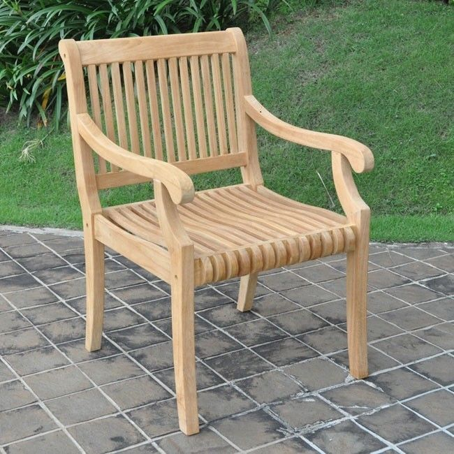 Peachy Wood Dining Arm Chair Teak Oiled Rounded Edges Easy To Put Evergreenethics Interior Chair Design Evergreenethicsorg