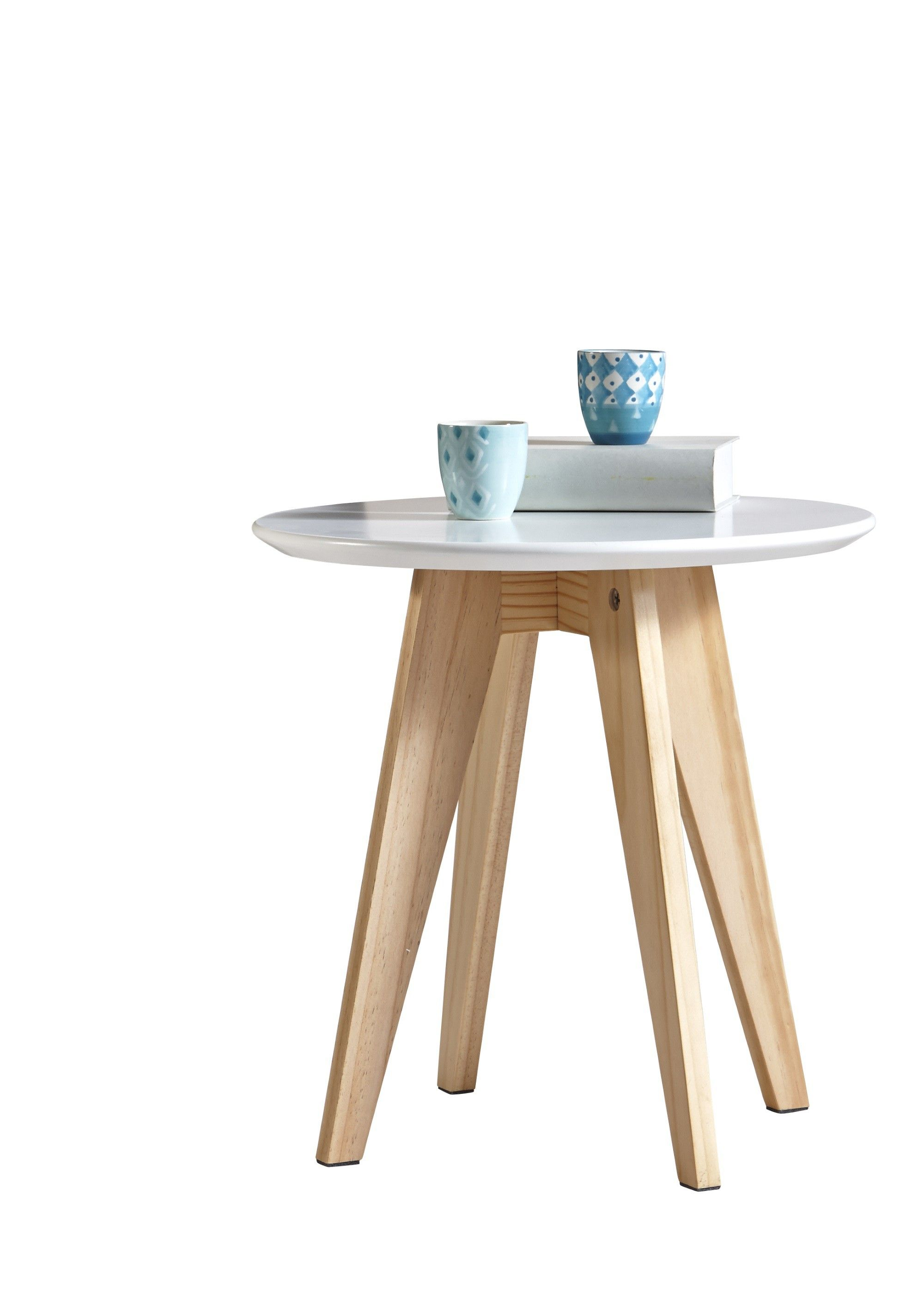 Tables Basses Soldes Table Basse Contemporaine Ronde Blanche Mafalda Table Basse