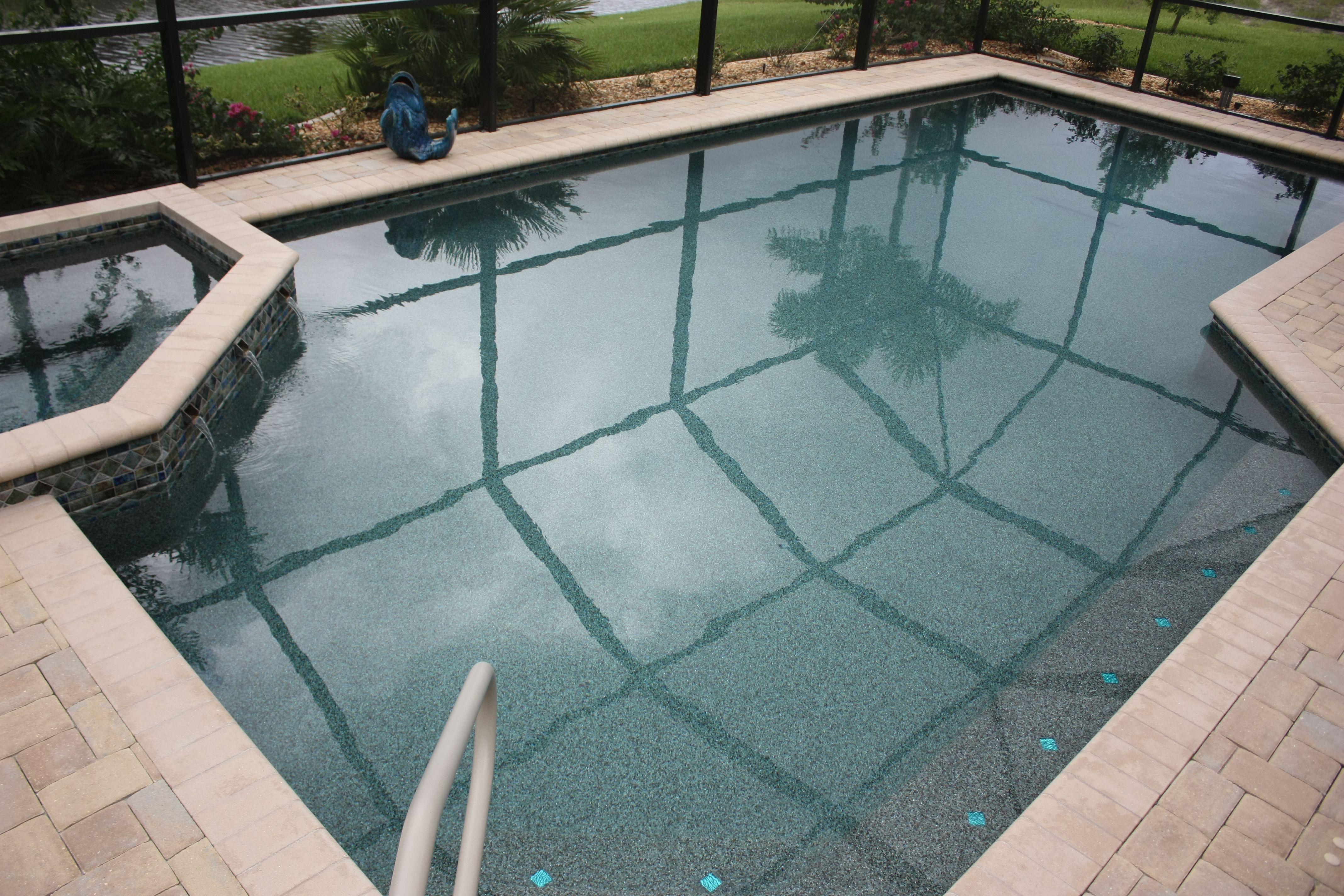 geometric pool and spa pebble tec tropical breeze and pt gemz
