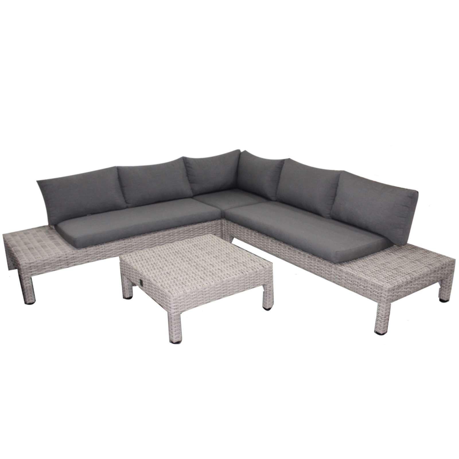 Aqua Saar Chios 4 Teiliges Loungeset Polyrattan Frost Lounge Mobel Gartenmobel Polyrattan