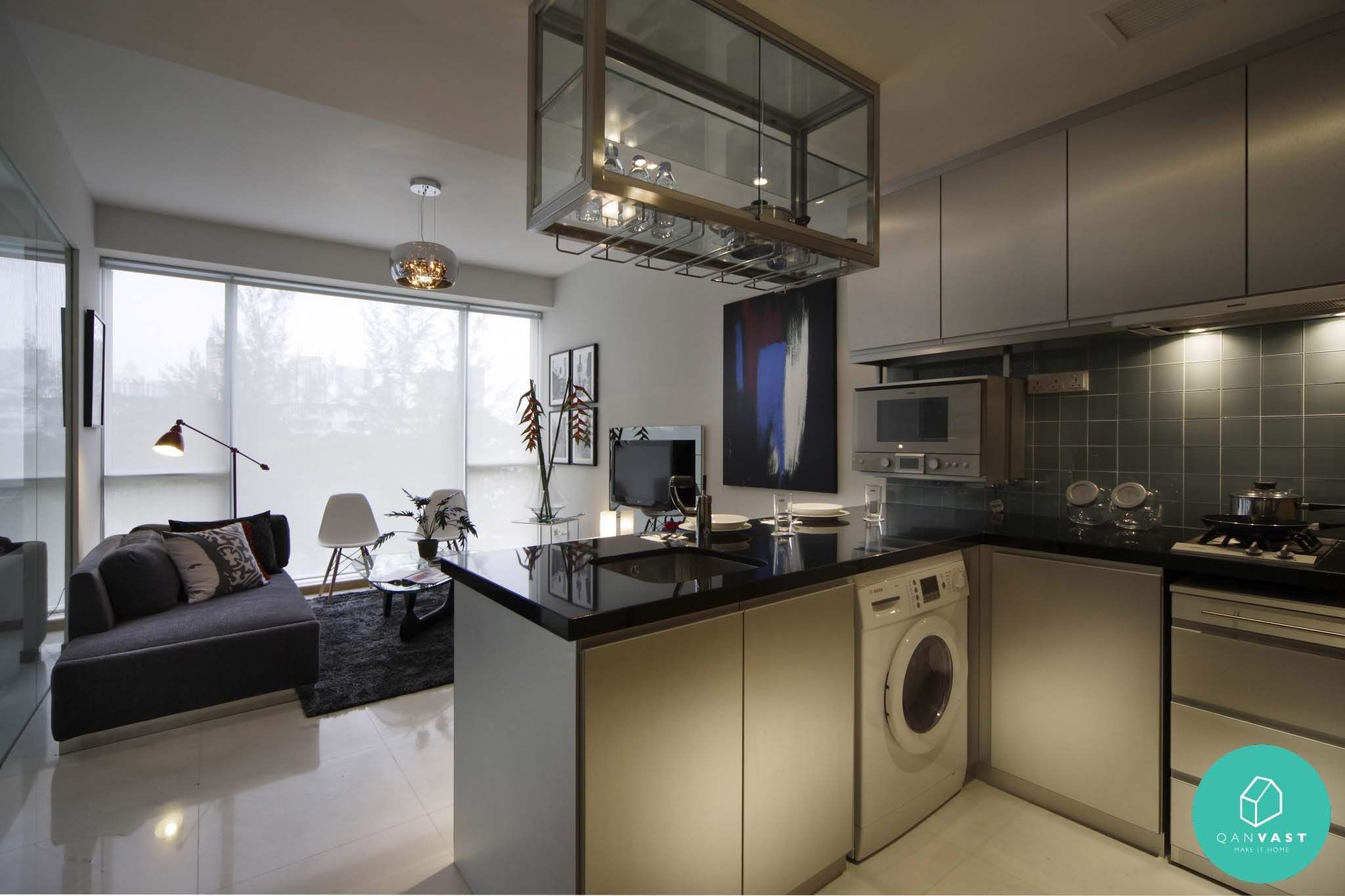 12 Kitchens That Gordon Ramsay Would Approve Of Washer machine