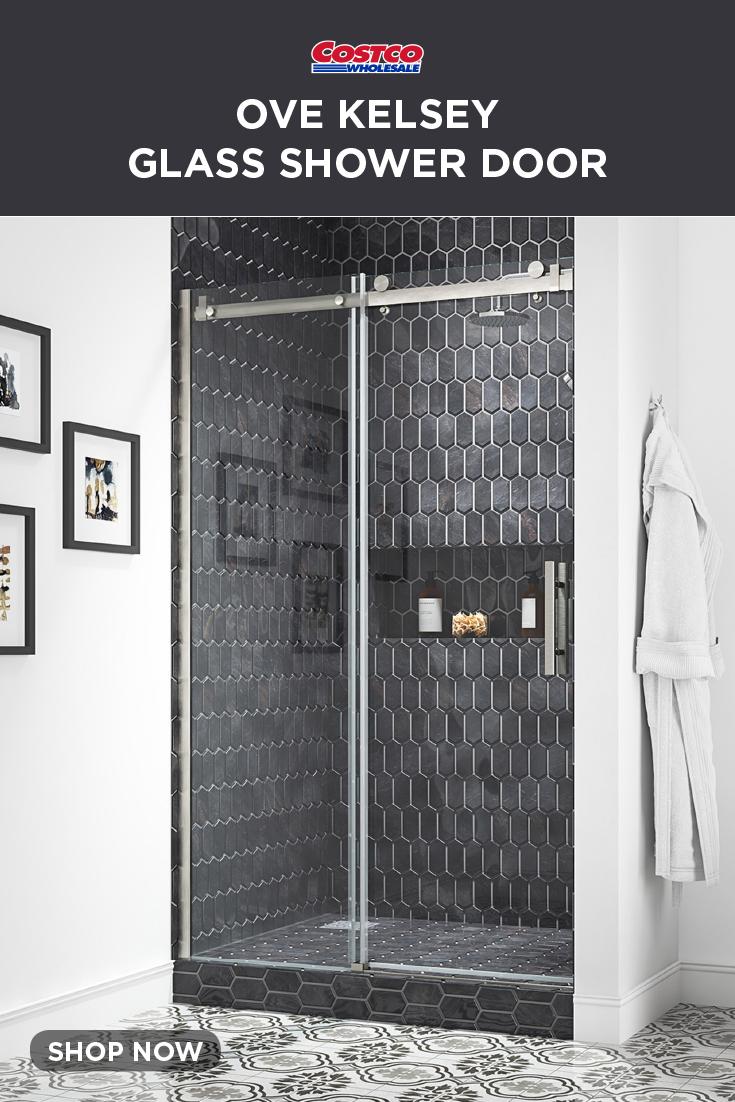 Ove Decors Kelsey 48 Tempered Glass Shower Door In 2020 Shower Doors Glass Shower Glass Shower Doors