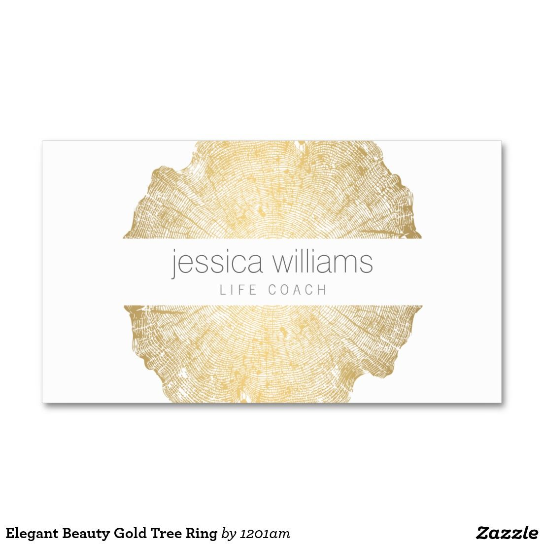 Luxe Wood Effect Art Business Card | Tree rings, Yoga teacher and ...