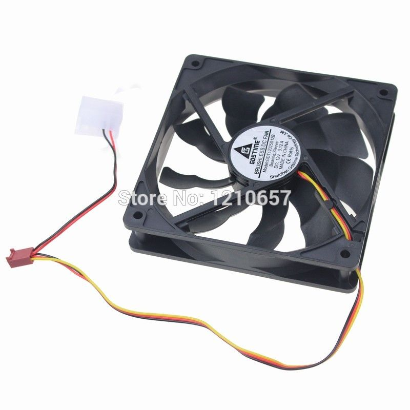 1pieces Lot Dc Cooling Fan Cooler 12v 3pin 4pin 120mm 120x120
