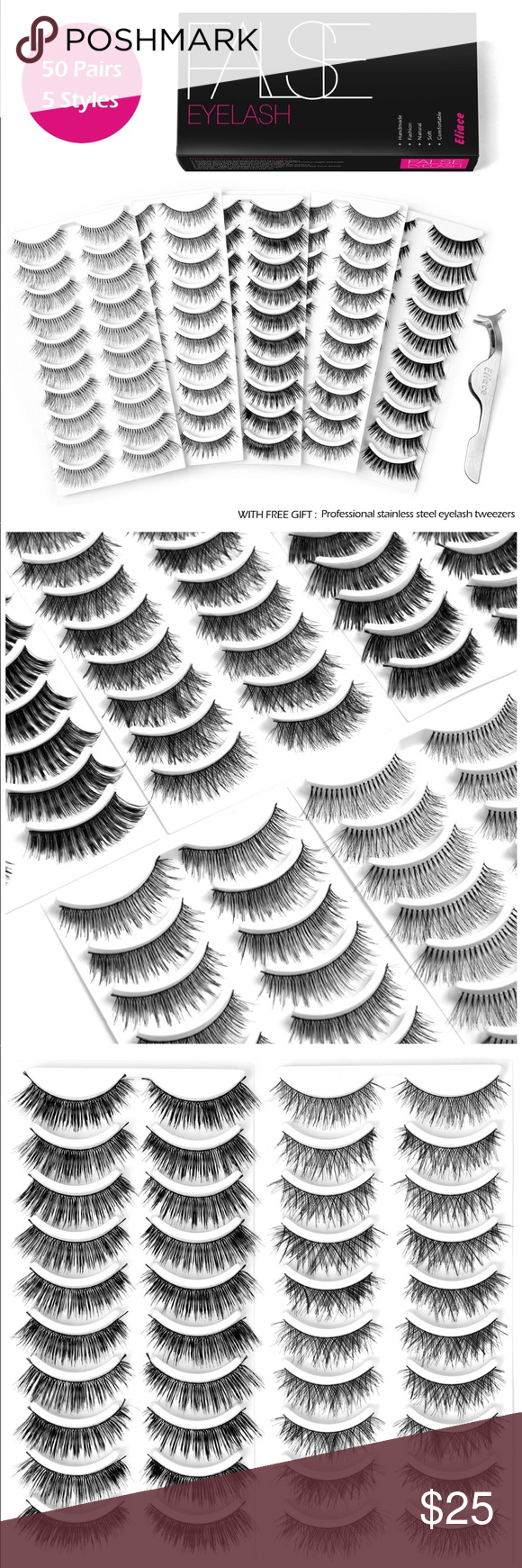 bb0b3c2a810 Eliace 95 individual lashes 5 Styles Lashes Eliace 95 5 Styles Lashes  Handmade False Eyelashes Set