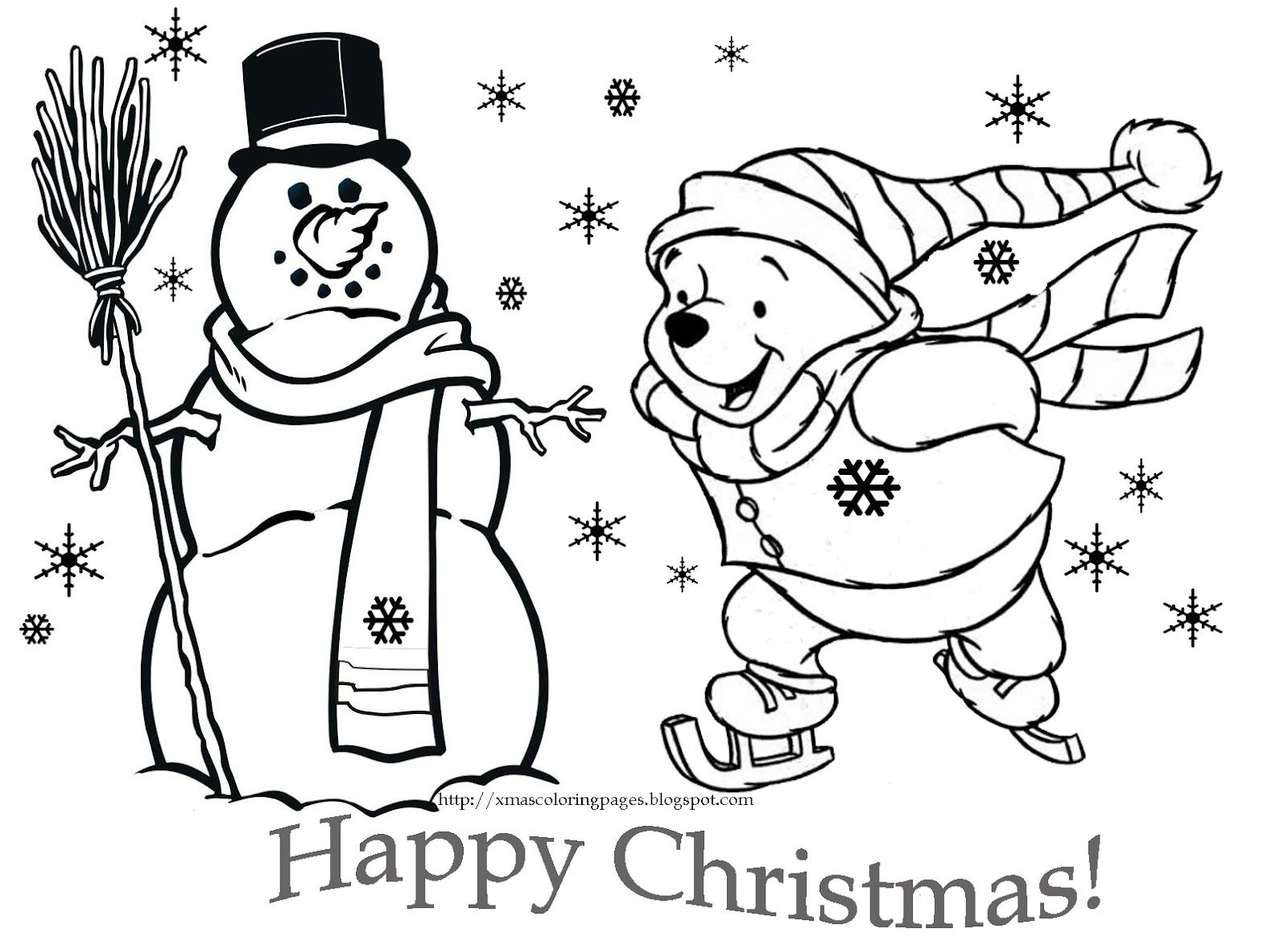 winnie the pooh christmas coloring pages winnie+the+pooh