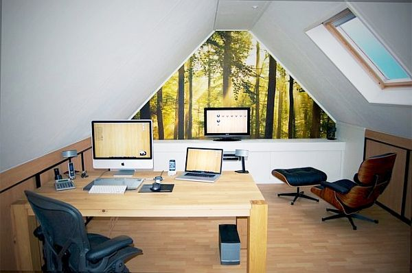 20 Home Office Decorating Ideas for a Cozy Workplace | Attic, Attic ...
