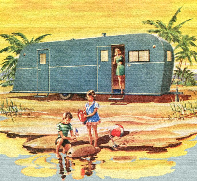 Vintage Trailer Illustration