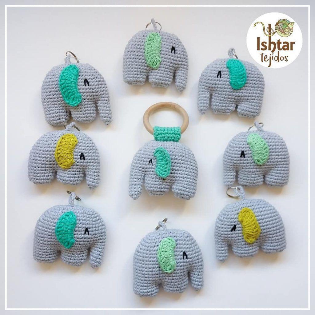 Tutorial Elefante Indiano Amigurumi Portachiavi (sub. English y ... | 1024x1024