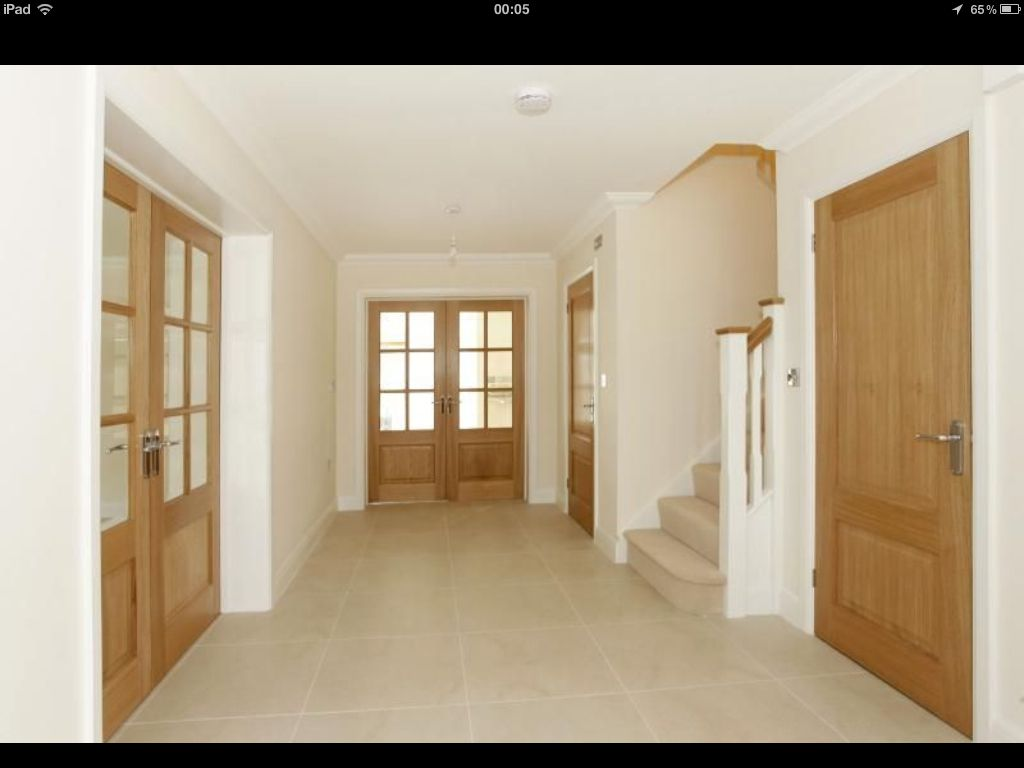 White interior doors with oak trim - Oak Doors And Light Floors More