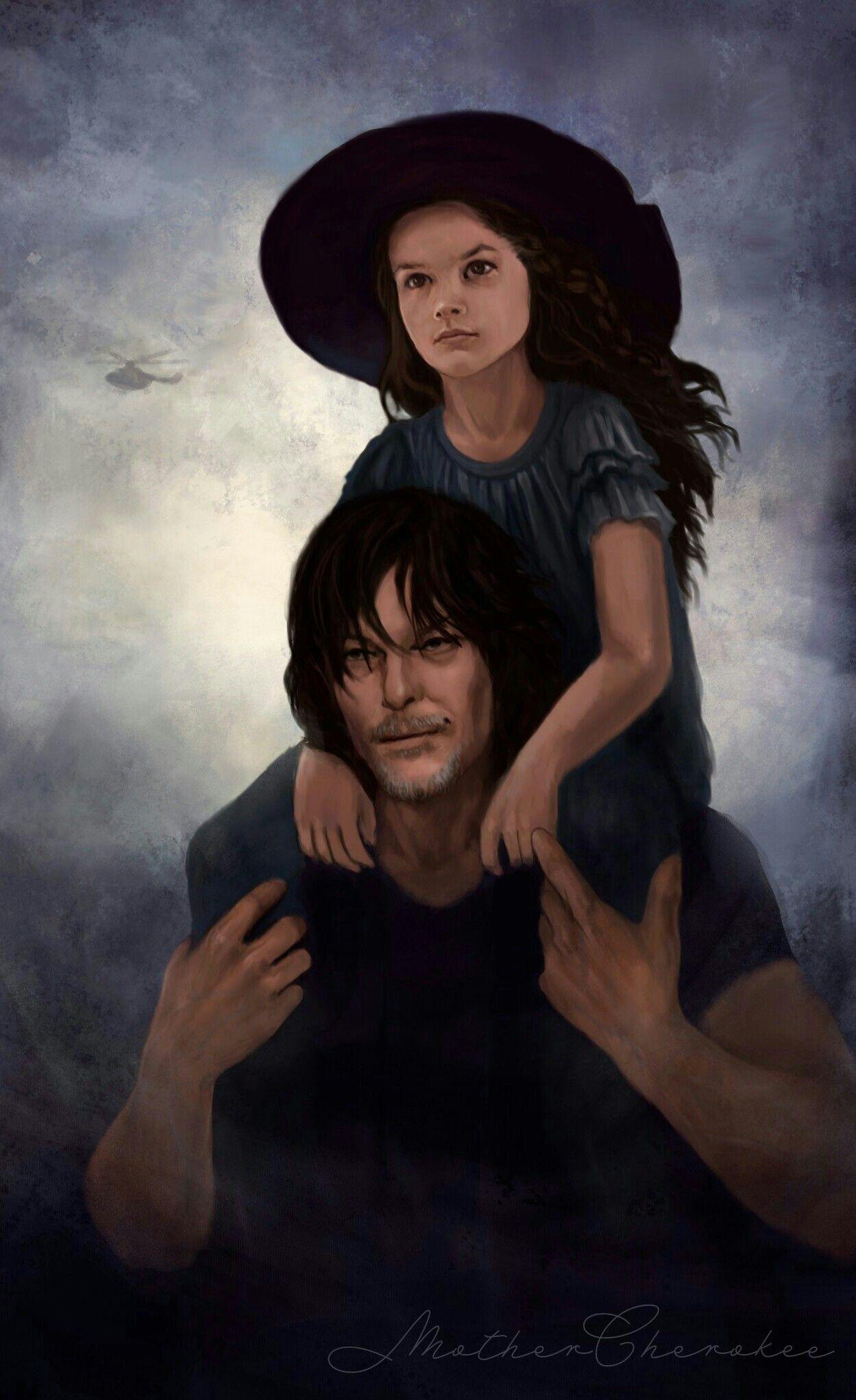 Daryl Dixon And Judith Grimes In 2020 Walking Dead Fan Art Walking Dead Wallpaper Daryl Dixon Walking Dead
