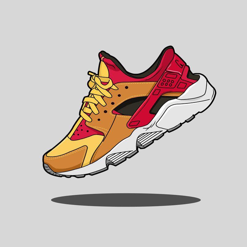 bar de nuevo conductor  Resultado de imagen para nike huarache vector | Cartoon shoes, Huaraches,  Shoes drawing