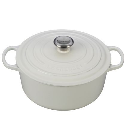 Le Creuset Signature White Round French Ovens | Sur La Table