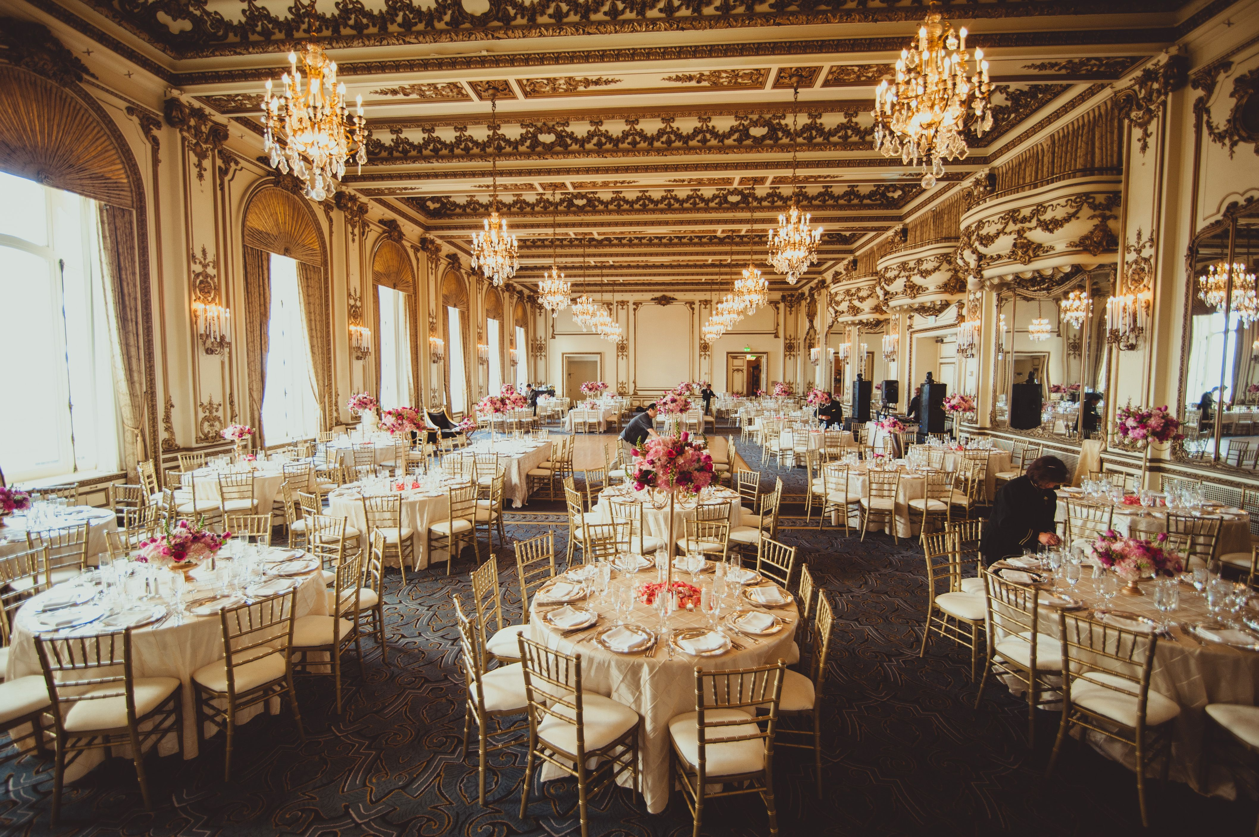 Lunch Wedding Reception At Gold Room Fairmont San Francisco