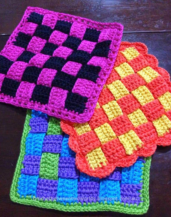 Pattern: Woven Hot Pad / Trivet (Crochet between worlds ...